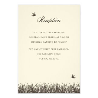 Rustic Reception Enclosure Card