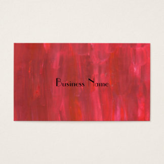 Rustic Red Abstract Business Card
