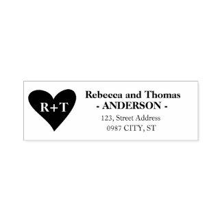 Rustic return address self-inking wedding stamp