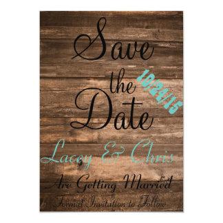 Rustic Save the Date 13 Cm X 18 Cm Invitation Card