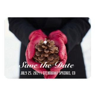 Rustic Save the Date 5x7 Paper Invitation Card