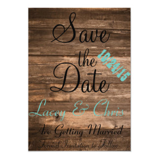 "Rustic Save the Date 5"" X 7"" Invitation Card"