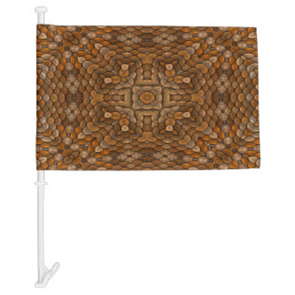 Rustic Scales Colorful Car Flag