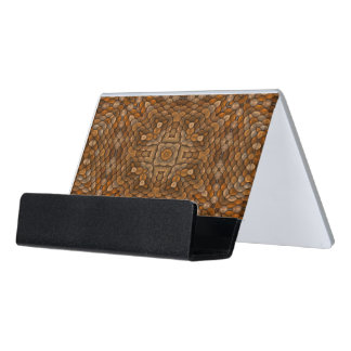 Rustic Scales Colorful Desk Business Card Holder