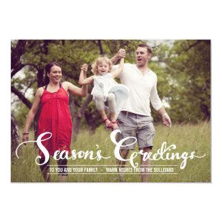Rustic Season's Greetings | Holiday Photo Card 13 Cm X 18 Cm Invitation Card