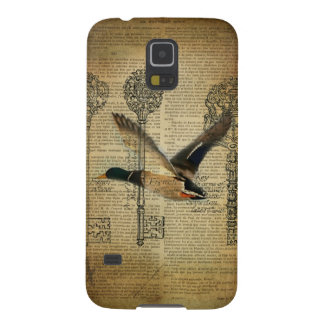 rustic skeleton keys western country mallard duck galaxy s5 cover