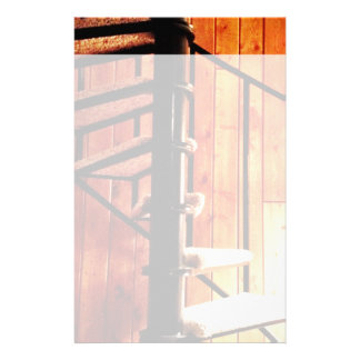 Rustic Spiral Staircase at Cabin Stationery