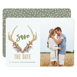 RUSTIC SPRING FLOWER | SAVE THE DATE CARD