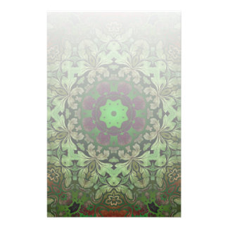 Rustic Steampunk Bohemian forest green mandala Stationery