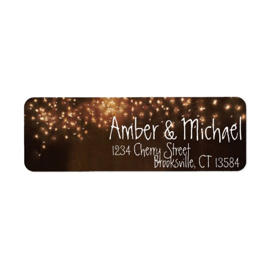 Rustic Summer Fairy Lights Label