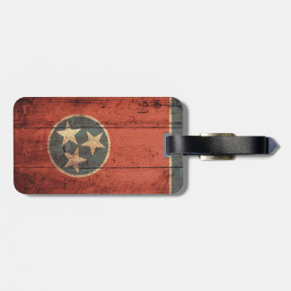 Rustic Tennessee State Flag Luggage Tag