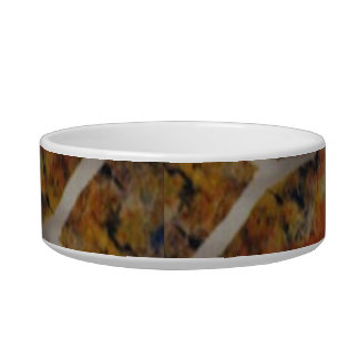 Rustic Texture Slate Painting Pet Bowls