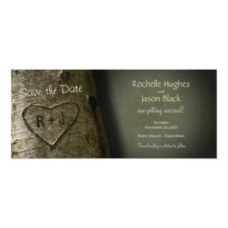 Rustic Tree Carve -- Save the Date Card