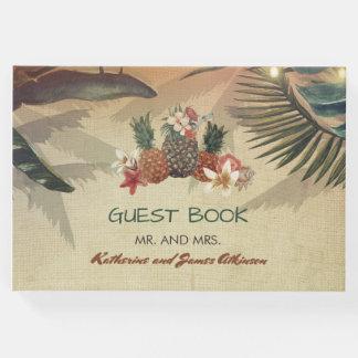 Rustic Tropical Beach Wedding Guest Book