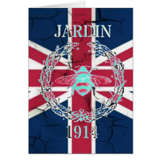 Rustic Union Jack Flag queen jubilee french bee Card