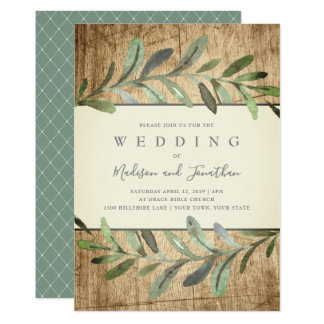 Rustic Vines Botanical Woods Wedding Invitation