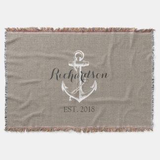 Rustic Vintage Anchor Wedding Monogram