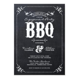 Rustic Vintage Chalkbaord Engagement Party 13 Cm X 18 Cm Invitation Card