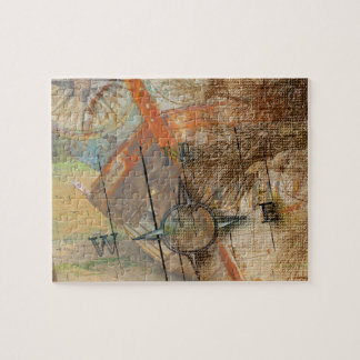 Rustic Vintage Shipwreck Jigsaw Puzzle