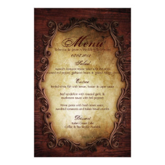 rustic vintage typography western country wedding stationery