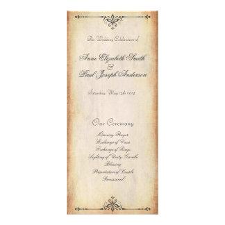 Rustic Vintage Wedding Program Rack Cards