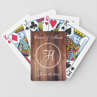 Rustic Wedding Date, and Initial Bicycle Playing Cards