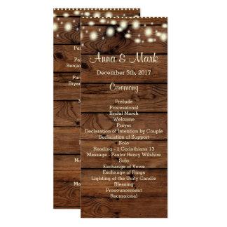Rustic Wedding Program, Wedding Program, Rustic Ra Card