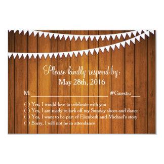 Rustic Wedding RSVP Response Card 9 Cm X 13 Cm Invitation Card
