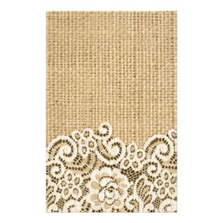burlap and lace custom stationery templates burlap and lace stationery. Black Bedroom Furniture Sets. Home Design Ideas
