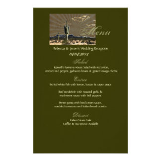 Rustic western country cactus wedding stationery