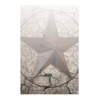 Rustic Western Country Primitive Texas Star Stationery