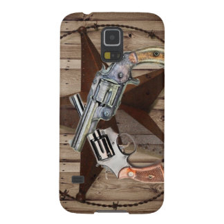 rustic western country texas star cowboy pistols galaxy s5 cover