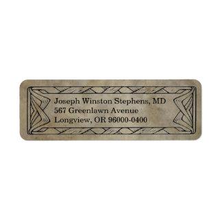 Rustic Western Twine Return Address Label