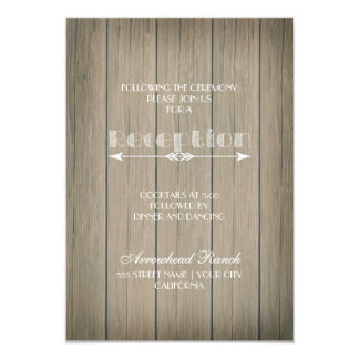 Rustic Whimsy Reception Card