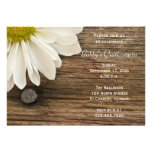 Rustic White Daisy Quinceanera Invitation