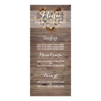 Rustic Wine Cork Menu Full Colour Rack Card