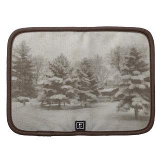 Rustic Winter Scene Folio Mini Folio Planners