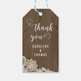 Rustic Wood and Lace Gift Tags