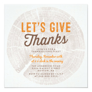Rustic Wood | Thanksgiving Dinner Card
