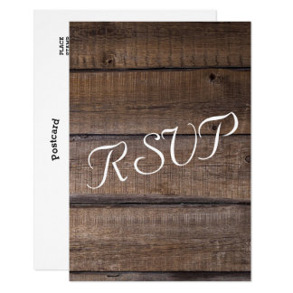 Rustic Wooden Pallet Wedding - RSVP Card