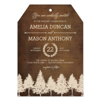 Rustic Woodland Wedding Invitations