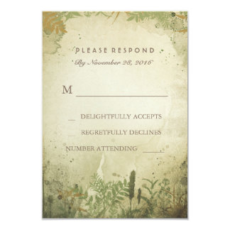 Rustic Woodland Wedding RSVP Card