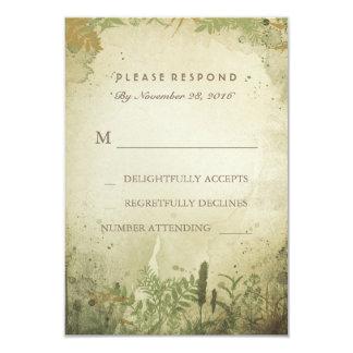 Rustic Woodland Wedding RSVP Card 9 Cm X 13 Cm Invitation Card