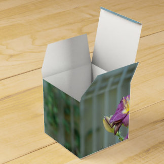 Rustic Yellow and Purple Flowers Party Favour Box