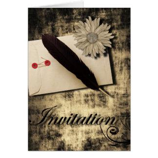 RusticDaisy LoveLetter Vintage Wedding Greeting Card