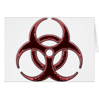 Rusty Bio Hazard Symbol Card
