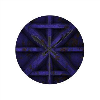 Rusty Container - Purple - Round Clock