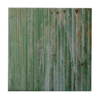 Rusty corrugated iron tile