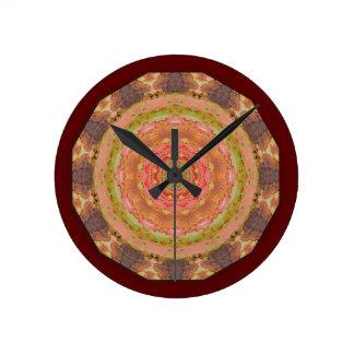 Rusty-Mandala / Rost-Art Round Clock