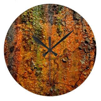Rusty Metal Abstract Grunge Art Large Clock